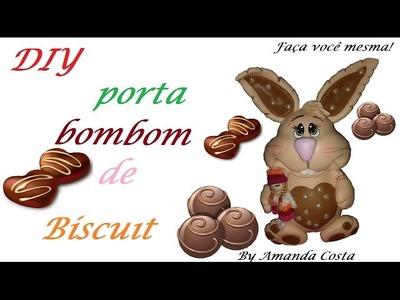 DIY  Porta bombom de biscuit!
