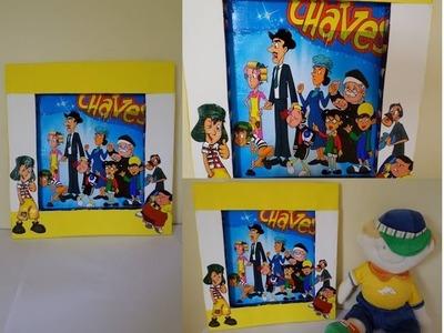 DIY - Quadro infantil 'Turma do Chaves'