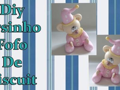 Diy Ursinho Fofo de biscuit