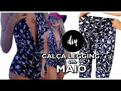 INCRÍVEL MAIÔ FEITO COM CALÇA LEGGING - DIY
