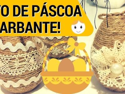 OVO DE PÁSCOA ENFEITADO COM BARBANTE | DIY | DRICA TV | TODA QUINTA 10H