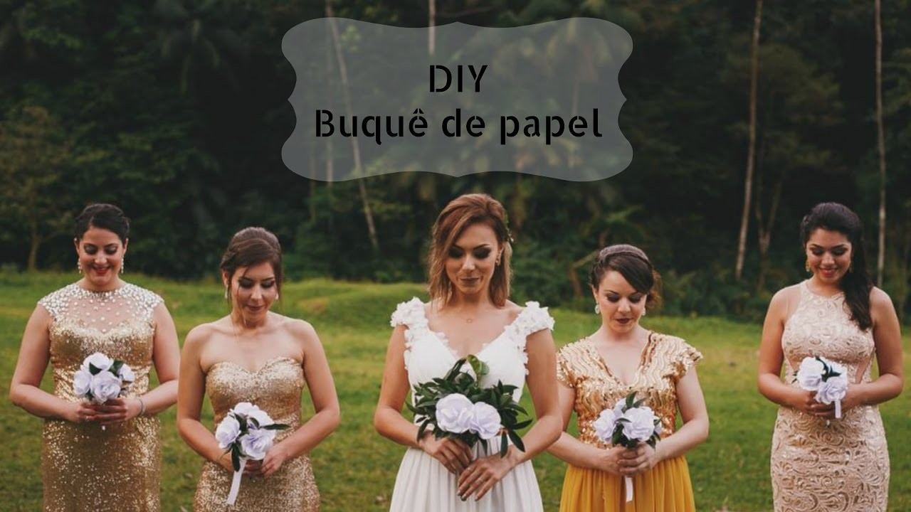 DIY Buquê de Papel l Como fazer seu próprio buquê
