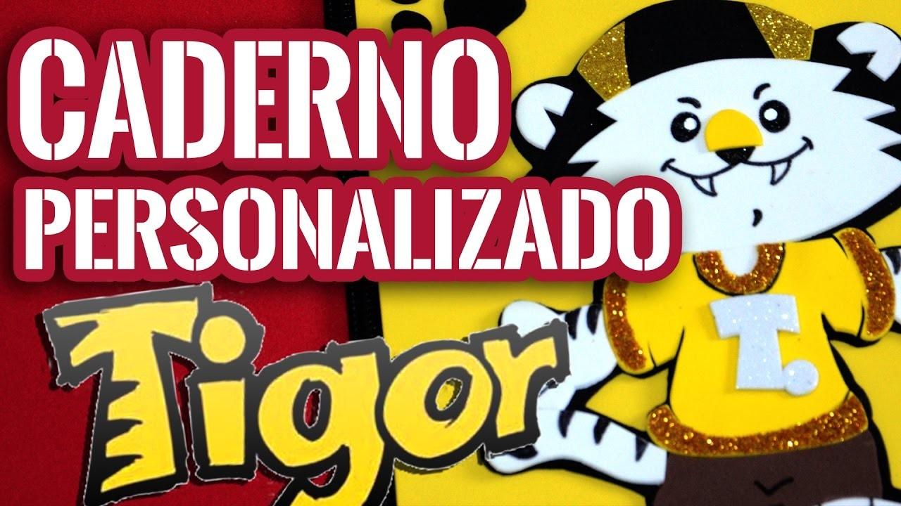 DIY | Capa de Caderno em EVA Tigor Tigre