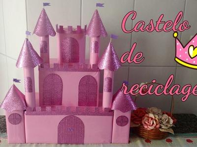 DIY: CASTELO FEITO COM RECICLADO.DECORAÇÃO DE MESA