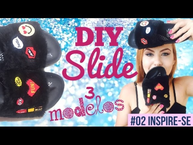 DIY CHINELO SLIDE. CHINELO DE PELÚCIA  - Fur Slide Fenty Rihanna