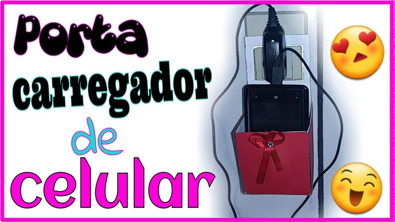 DIY COM PAPELÃO.PORTA CARREGADOR DE CELULAR SUPER FOFINHO. PROJETO ESTRELAS