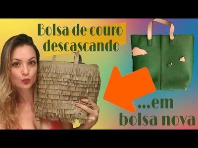 DIY - Como consertar bolsa de couro descascando.How to fix a peeling leather bag