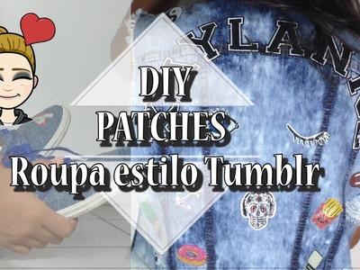 ✂️???? DIY: Como Fazer Patches e customizar roupas (Roupa estilo Tumblr)