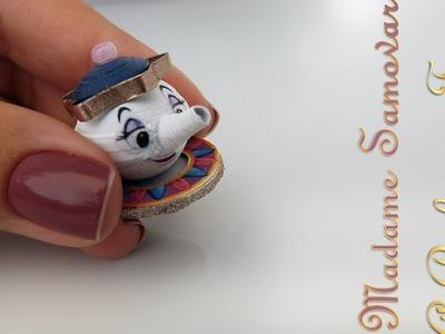 DIY - Como fazer um mini Bule (Madame Samovar) da A Bela e a Fera com papel