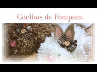DIY - Páscoa 2017 - Coelho de POMPOM.