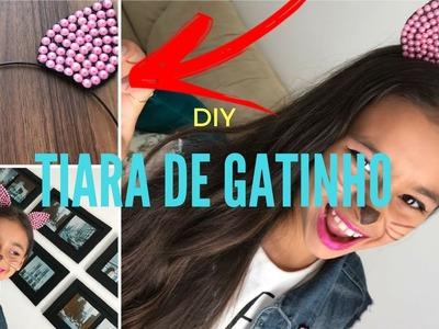 DIY Tiara de Gatinho(Tiara da Juju Almeida)||Lara Barreto