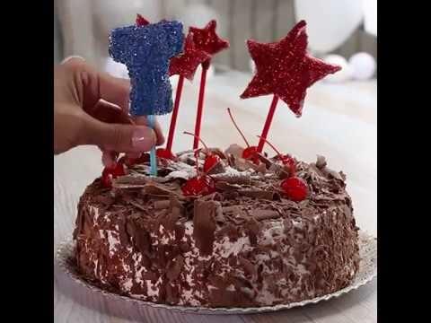 Enfeite personalizado para bolo de aniversário. #DIY #VixDIY