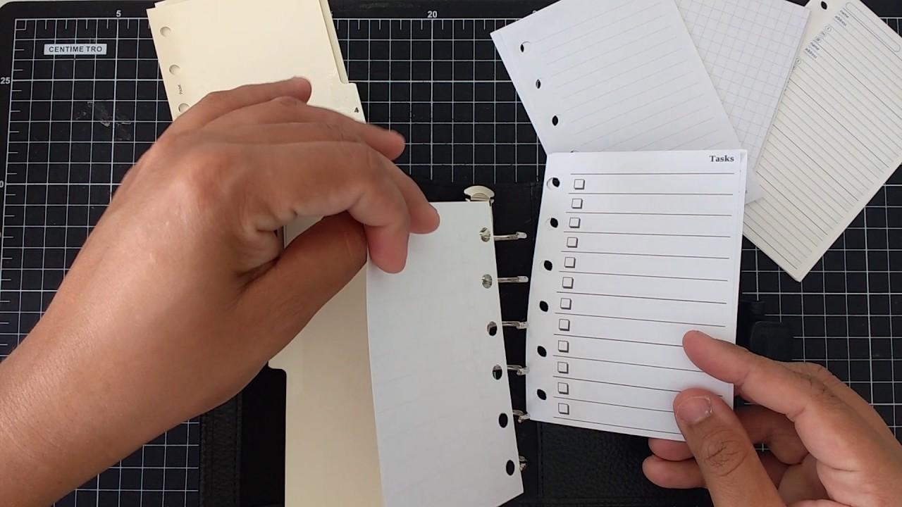 Organizando um Planner de bolsa!