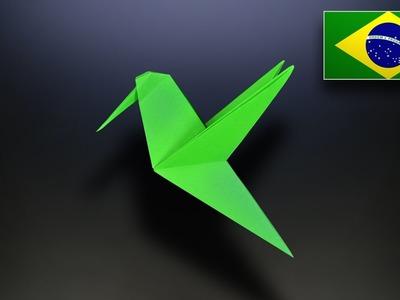 Origami: Beija-flor - Instruções em Português BR