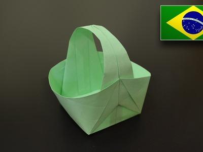 Origami: Cesta v2 - Instruções em Português BR