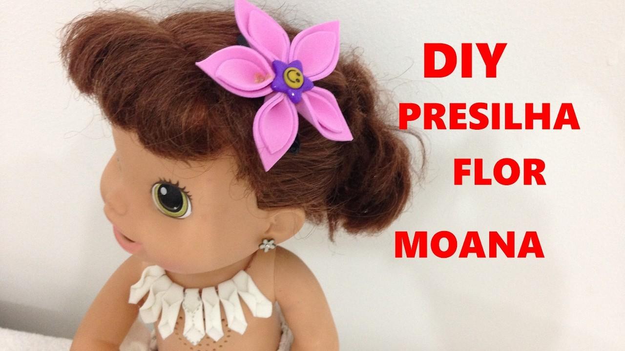 PRESILHA  FLOR DE EVA PRINCESA MOANA PARA BABY ALIVE E OUTRAS BONECAS