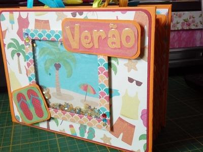 SCRAPBOOK - Álbum Férias de Verão - Shaker card - DIY