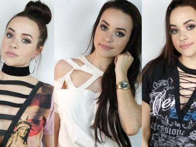 3 Idéias para customizar camisetas LACE UP, STRAPPY #lookdasgringa