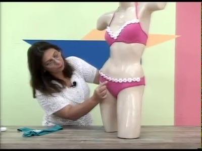 Biquini customizado em croche com camila fashion por Cristina Amaduro