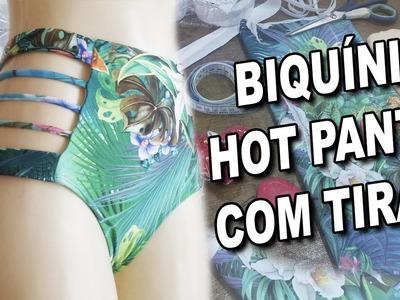 Biquíni Hot Pants com Tiras   Vídeo Aula passo a passo