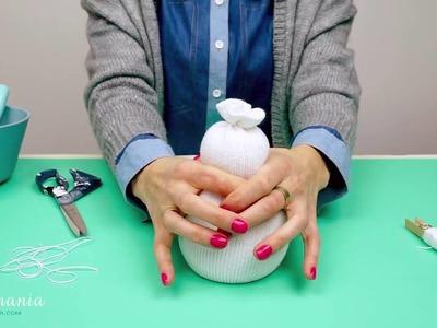 Como fazer boneco de neve com meias