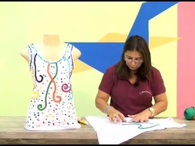 Customização de blusa em croche com Camila fashion