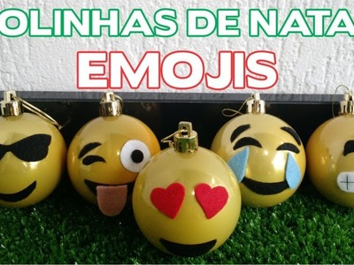 DIY - Bolinhas de Natal Emojis - Enfeites de Natal - Passo a Passo