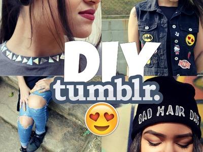 DIY Customização de roupas Tumblr ✄