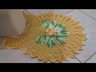 Jogo de Banheiro Harmônia - Tapete do Vaso - Com Cristina Coelho Alves