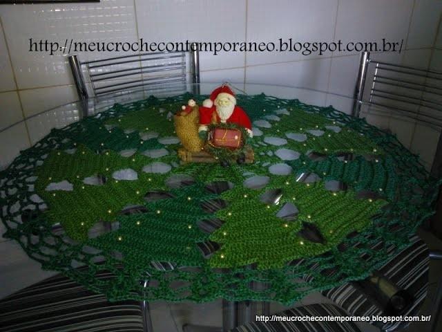 Toalha Pinheirinhos de Natal, parte 1