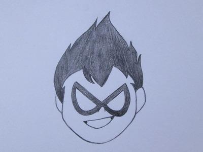 Como desenhar o Robin de Os Jovens Titãs