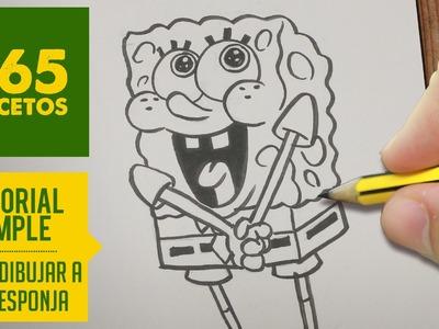 COMO DIBUJAR A BOB ESPONJA PASO A PASO - How to draw Spongebob Squarepants