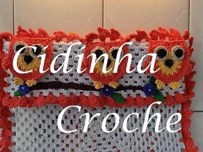 Croche-Capa Fogão Corujinhas(4Bocas)-Passo A Passo-Parte 1.5