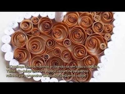 Faça uma Caixa de Coração em Filigrana de Papel - Faça Você Mesmo Casa - Guidecentral