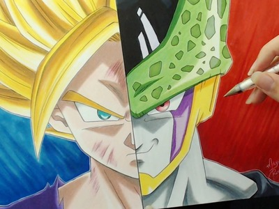 Speed Drawing - Gohan   Cell