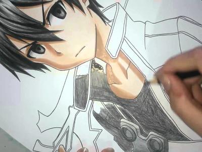 Speed Drawing - Kirito (Sword Art Online)
