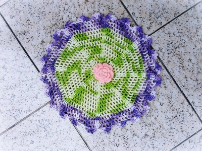 Tapete de crochê fácil ( jardim encantado)
