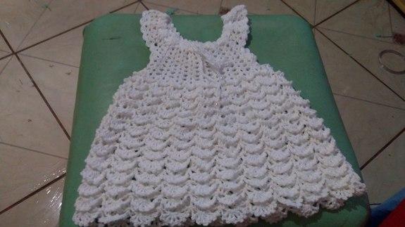 Vestido De Crochê 100 Algodãobranco Elianaartes