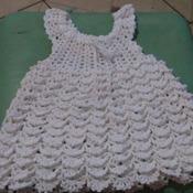 vestido de crochê 100% algodão,branco.