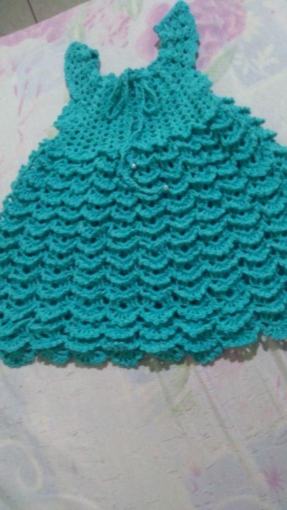 Vestido De Crochê Para Menina Até 2 Anos Elianaartes