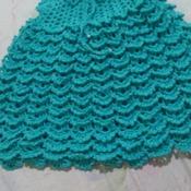 vestido de crochê para menina até 2 anos