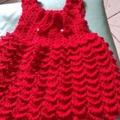 vestido de crochê 100% algorão